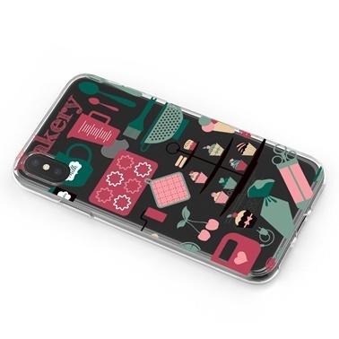 Lopard iPhone Xs Max Kılıf Silikon Arka Koruma Kapak Mutfagimi Seviyorum Desenli Renkli